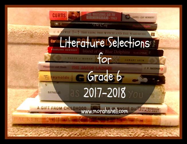 Literature Selections: Grade 6, 2017-2018